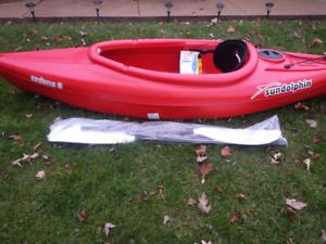 8' kayak with paddle