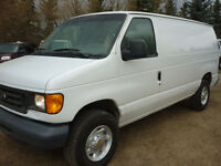 2005 Ford E-250 Cargo Van w/ PARTITION
