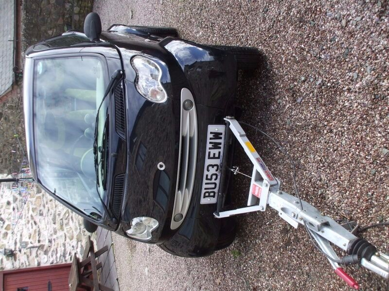 A 2003 SMART CAR WITH EURO BRAKED A FRAME FOR TOWING BEHIND A ...