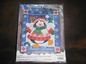 Penguin felt craft kit