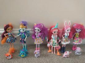 6 Enchantimals Dolls bundle
