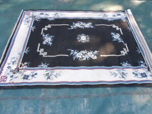 Black Throw Rug