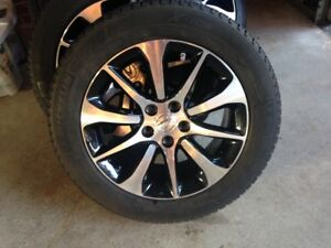 Set of 4 winter tires with Acura factory rims and TPMS