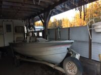 14' crestliner with 30Hp Yamaha and trailer.