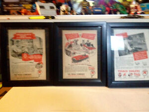 Framed 1940's Texaco Advertisemant 3 available