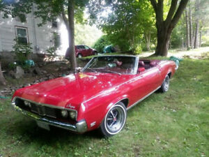 1969 Mercury Cougar Convertible Red!