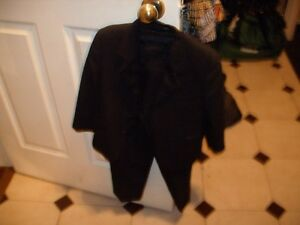 black suit with white shirt