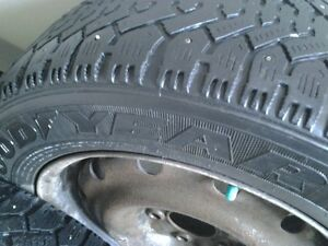 ***205/60R16 GoodYear Nordic studded WINTER tires on rims***