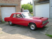 Original 2dr sedan 1964 Plymouth Savoy, California Hemi Drag Car