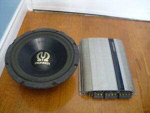 Pioneer Car Power Amplifier + Pioneer 12'' Subwoofer 400 watts