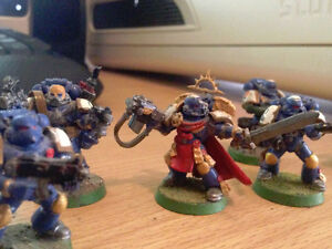 Warhammer 40K Space Marine Captain w/ Tac Squad