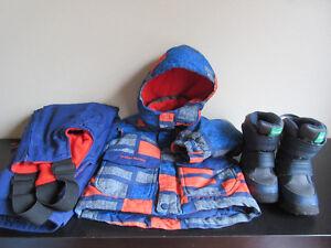 Boys 4T Snow Suit & Size 6 Boots