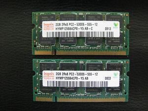 2 x 2G  DDR2 667  Laptop Ram