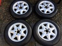 (4x) Refurbished wheels + new tyres 195-65-15