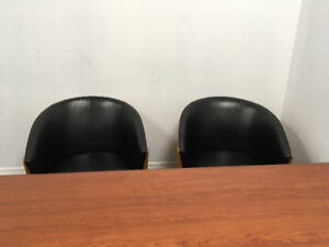 U-Shaped Office Desk with Chairs