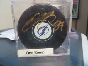 Halifax Mooseheads-Tampa Bay-Otto Sompi Autographed Puck