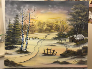 Oil landscape paintings by local artist