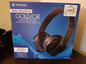 PS4 Gold Headset [Used]