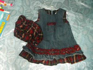 Nice jeans dress 3-6 mth.