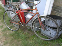 BUNCH OF OLD YARD GARDEN DECOR BIKES BICYCLES $25 EACH !!
