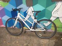 Giant alight ladies white 21 speed bike mud guard