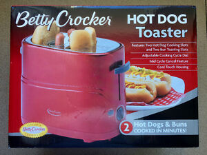 Betty Crocker Hot Dog Toaster - Cooks 2 Hot Dogs & 2 Buns!