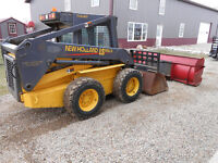 02 NewHolland Ls180 Skid Steer Loader Heated Cab-Snow Pusher