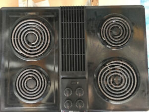 JennAir Stove top, works great, Down Draft exhaust fan attached