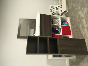 Brand new sink vanity vertical storage and mirror