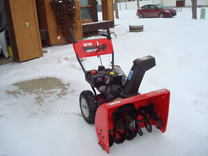 """MTD 28"""" snowblower Like New with electric start"""