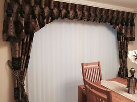 2 x curtains professionally hand made