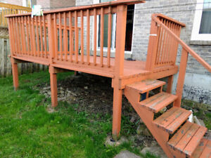 Wooden Deck for immediate pickup in mississauga