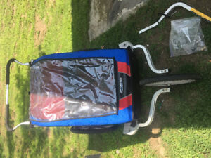 Chariot Cheetah 2 Double Jogging Stroller with Bike Trailer
