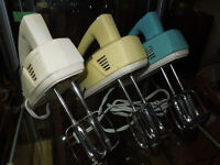 Collection of 15 Vintage Hand Mixers