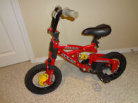 """$60 - Bike 12"""" with training wheels. Value $170. Great con"""
