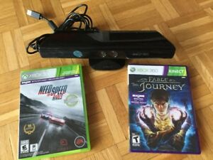 X360 Kinect + Need for Speed Rivals + Fable The Journey-40$