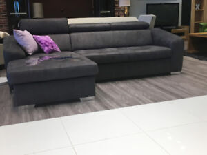 SECTIONAL DUO - SOFABED W/STORAGE - WATER-REPELLENT MICROFIBER
