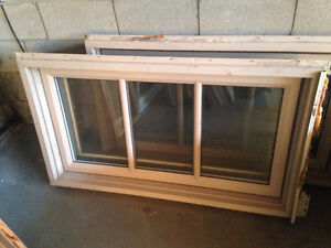 Awning style windows with opening