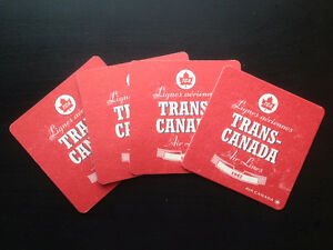 Air Canada promotional coasters -TCA 1947