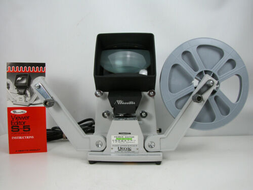 Working Professional MINETTE SUPER 8 VIEWER  Top Of the Line Viewer/Editor Nice!