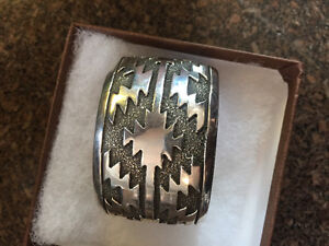 Aztec sterling bangle