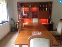 Dinning package, display unit, sideboard, table and chairs 180 bargain.