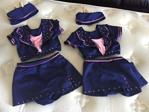 Competitive duet dance costumes