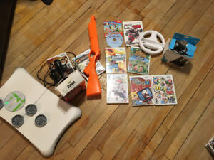 WII games and accessories