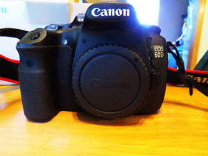 Canon 60d Body,2 extra Batteries,Charger,Box,Books,cds Cords,Str