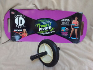 Simply Fit Board and Ab Wheel
