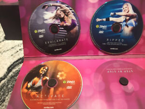 Zumba fitness DVD set with weights