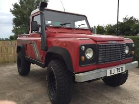 Land Rover defender 90 300tdi truck cab with galvanised chassis