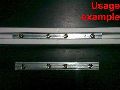Aluminum T-slot Profile 180 Deg Straight Inside Connector 20x20-6mm 4-set