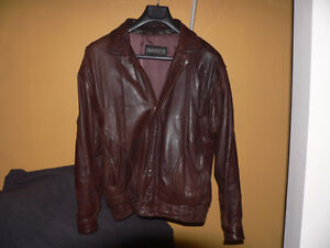 Chocolate Brown Lambskin Leather Jacket by Robert Comstock
